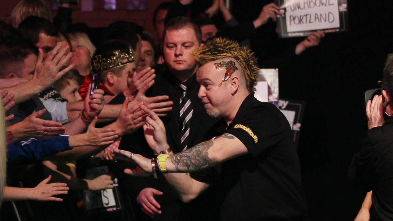 PDC BETWAY PREMIER LEAGUE 2015, PDC, DARTS, PRO DARTS,PIC:CHRIS SARGEANT, PETER WRIGHT, GARY ANDERSON, PREMIER LEAGUE DARTS, 2015